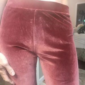Rose Velvet Leggings Medium